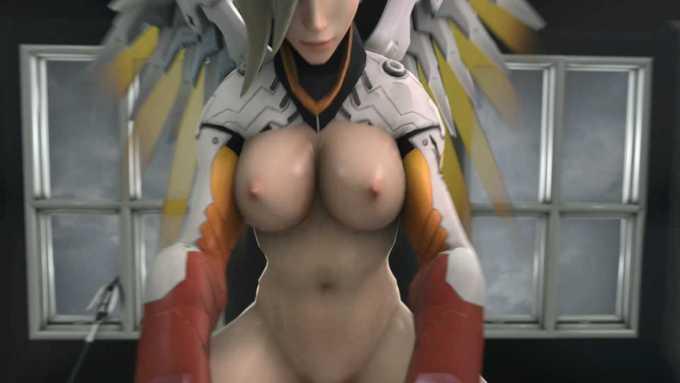 [3DCGアニメ] マーシー(アンジェラ・ジーグラー)が騎乗位で激しく腰を振り、たっぷり中出し【オーバーウォッチ(Overwatch)】 (11)