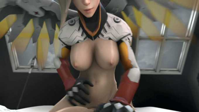 [3DCGアニメ] マーシー(アンジェラ・ジーグラー)が騎乗位で激しく腰を振り、たっぷり中出し【オーバーウォッチ(Overwatch)】 (15)