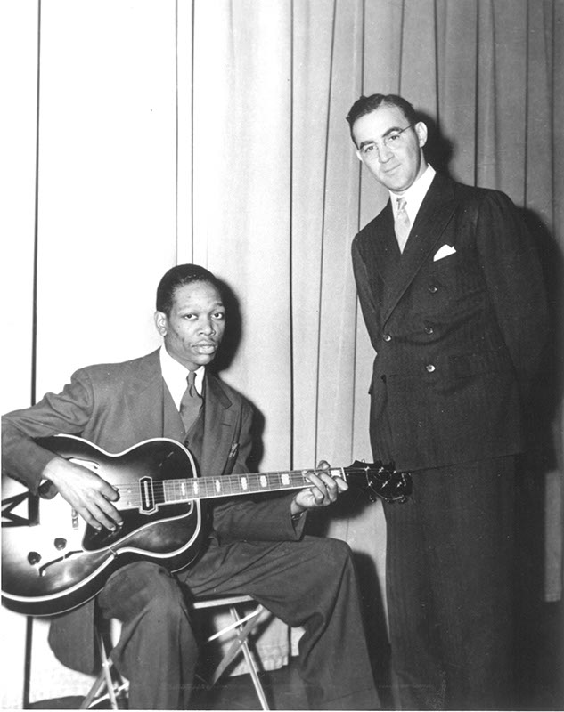 Charlie Christian and American jazz and swing musician Benny Goodman. (Provided)