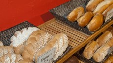Fresh bread on the shelf at Ingrid's, 3701 N. Youngs.  mh