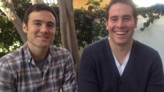 Rob Belushi and Jon Barinholz are LA-based improv duo Sheldon. (Provided)