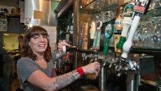 Bartender Priscilla Angelico draws a Guinness at VZD's. (Mark Hancock / File)