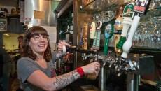 Bartender Priscilla Angelico draws a Guinness at VZD's. (Mark Hancock / File)