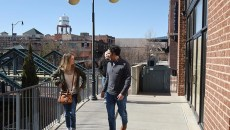 People out and about in Bricktown, Friday.  mh