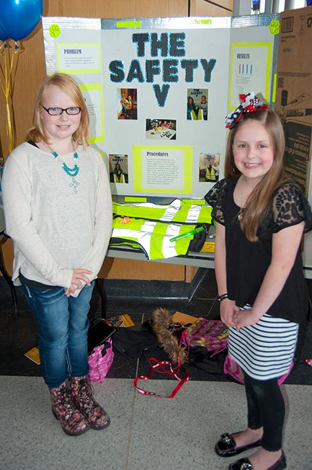 Last year's winners of the Oklahoma Student Inventors Exposition left Kylie Thompson and Jadyn Waddle, both from Heritage Trails Elementary in Moore, are shown with their project. (Provided)