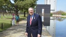Rev. Don Alexander  at the Oklahoma City National Memorial recently.  mh