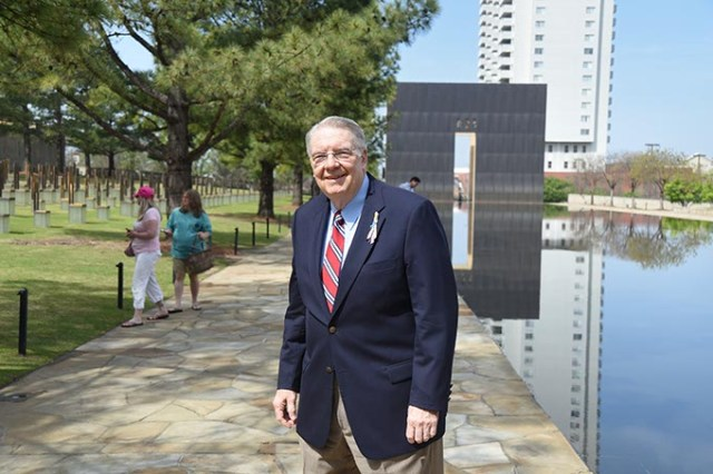 Rev. Don Alexander  at the Oklahoma City National Memorial recently.  mh