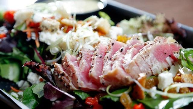 Heard It Through The Grapevine salad with a pan-seared tuna filet (Garett Fisbeck)