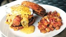 The Pump's breakfast burger. (Garett Fisbeck)