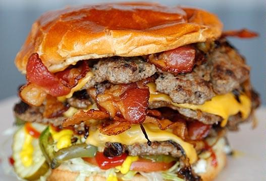 Big Mother Tucker at Tucker's Onion Burgers in Oklahoma City, Monday, May 11, 2015.  (Garett Fisbeck)