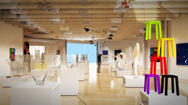 A rendering of Oklahoma Contemporary Arts Center's new showroom (Provided)