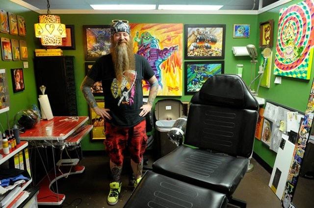 Tattoo gallery gets all decked out for art show oklahoma for Oklahoma city tattoo shops