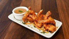 Coconut Fried Shrimp at Broadway 10 Bar & Chophouse, 10-14-15.  (Mark Hancock)