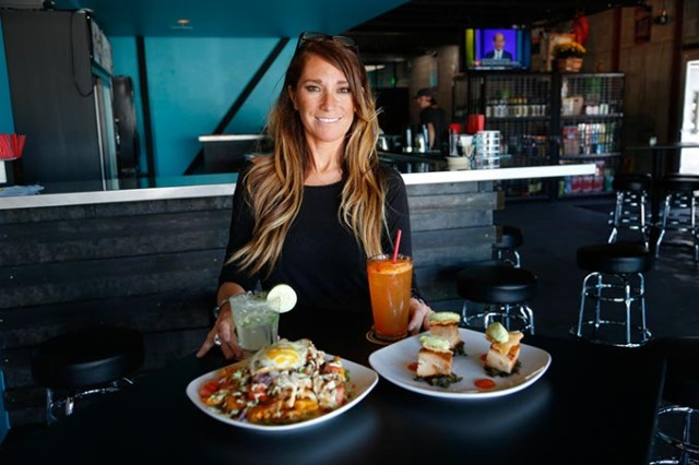 Bartender April Noriega at Guyutes (Garett Fisbeck / File)
