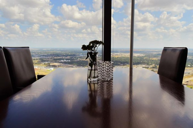 Table view from Vast, 333 west Sheridan Ave., at the top of the Devon Tower in downtown Oklahoma City. (Mark Hancock / File)