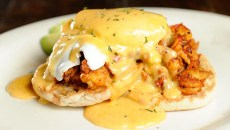 Crawfish benedict at Hillbilly's in Oklahoma City, Tuesday, Dec. 8, 2015.  (Garett Fisbeck)