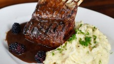 New Zealand rack of lamb at Broadway 10, Tuesday, March 8, 2016.  (Garett Fisbeck)