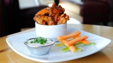 Buffalo-style wings at Upper Crust Wood Fired Pizza (Garett Fisbeck)