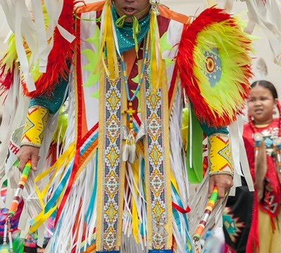 Fancy Dancer competes at the Red Earth Festival