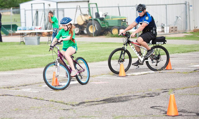 Children participate in a YMCA bicycle safety course. Y Without Walls, hosted by YMCA of Greater Oklahoma City, is June 5 in Automobile Alley. (Provided)