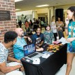 The University of Central Oklahoma's Interfaith Faith returns to campus from 11 a.m. to 2 p.m. Aug. 25. Pictured, representatives from Edmond's Spring Creek Assembly of God speak to a student during 2015 fair. Photo by UCO Photo Services/KT King