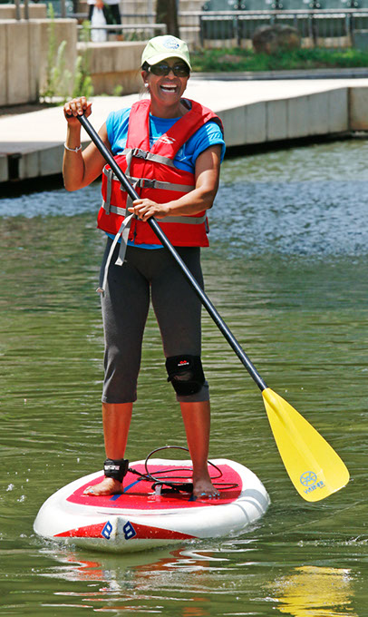 Your last chance to participate in this season's paddle boarding sessions at Myriad Botanical Gardens is this weekend. (provided)