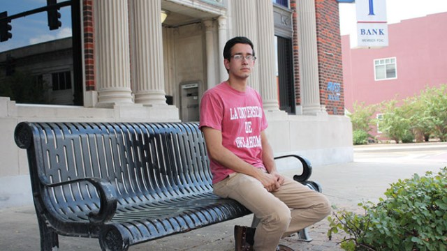 Carlos Rubio, born in Mexico and raised in Tulsa, began his studies at the University of Oklahoma last month. | Photo Laura Eastes