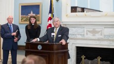 Senator Brian Crain speaks to attendees at the launch of Reason for Reform Campaign at the State Capitol in Oklahoma City, Wednesday, August 3, 2016.  (Emmy Verdin)