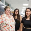 Principal, Mylissa Hall, and two AP students pose for a photo at Southeast High School on Wednesday, September 21, 2016 in Oklahoma City.  (Emmy Verdin)