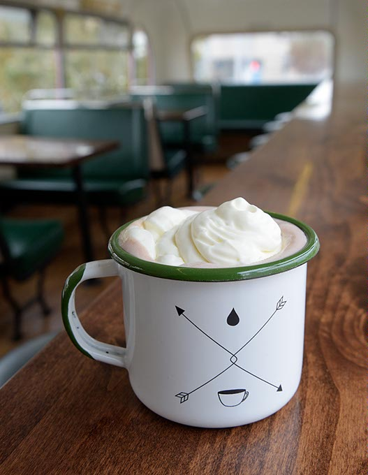 Hot chocolate at Junction Coffee (Garett Fisbeck)