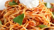 Spaghetti polpettine at Patrono, Tuesday, May 17, 2016.  (Garett Fisbeck)