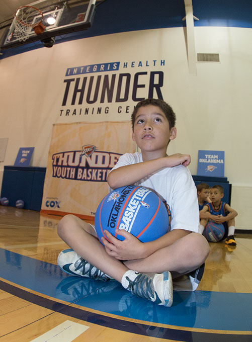 Within the next few years, organizers expect to have Thunder youth camps in states like Arkansas, Kansas and Missouri. ( Richard Rowe / Oklahoma City Thunder / provided)