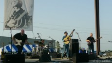 1st place song winner Jared Deck on the new stage at the Pastures