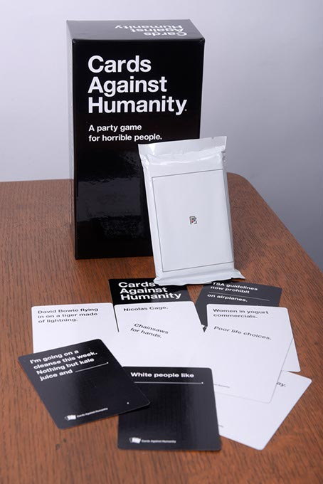 Cards Against Humanity with Amy Schwartz-designed World Wide Web expansion pack.  (Garett Fisbeck)
