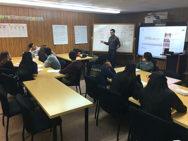 Rogelio Almeida teaches a workshop as part of OKCine Latino Film Festival's student film education program. (OKCine Latino Film Festival / provided)