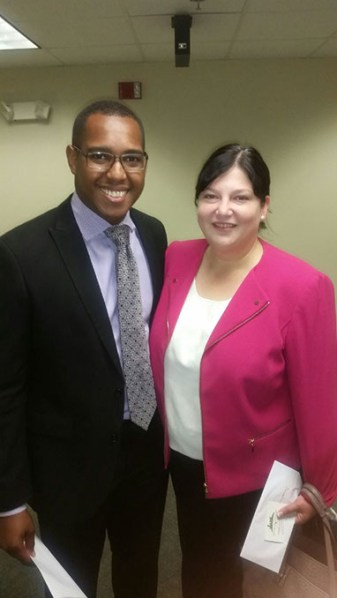 Eran Harrill and Oklahoma City Public Schools Superintendent Aurora Lora at a Black Chamber of Commerce Metro Oklahoma City event (Provided)