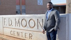 Sandino Thompson, community member on OKCPS Northeast Task Force, poses for a photo at F.D. Moon, Friday, Feb. 17, 2017.  (Garett Fisbeck)