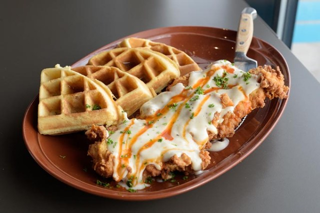 Chicken and waffles (Garett Fisbeck)