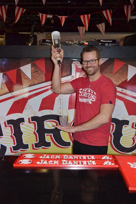 Circus Party Bar mixologist Paul Keller readies another drink. (Karah Good / provided)