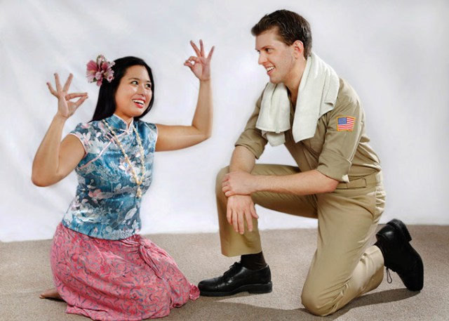 Hannah Descartin as Liat and Jeremy Small as Joseph Cable in Jewel Box Theatre's <em>South Pacific</em> (Jim Beckel / Jewel Box Theatre / provided)