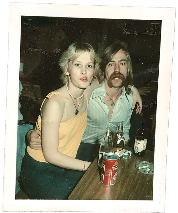 Luke Dick's parents in 1977 (Red Dog / provided)
