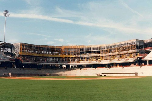 Built at a cost of $34 million, Bricktown Ballpark changed Oklahoma City in ways no one could have predicted when the first pitch was thrown 20 years ago. (Oklahoma City Dodgers / provided / file)
