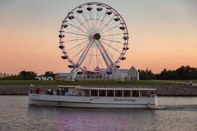 Oklahoma River Cruises offers sunset, themed, specialty and private cruises. (Beau Brand / Oklahoma River Cruises / provided)