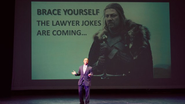 "2015 Ignite OKC 124 - Lorenzo Banks - ""The Days and Times of Being a Superhero""    Photos by Traina Photography"
