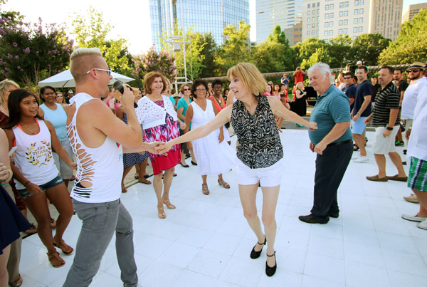 Myriad Botanical Gardens is transformed into a salsa dance party 7-10 p.m. Friday. (Photo provided)