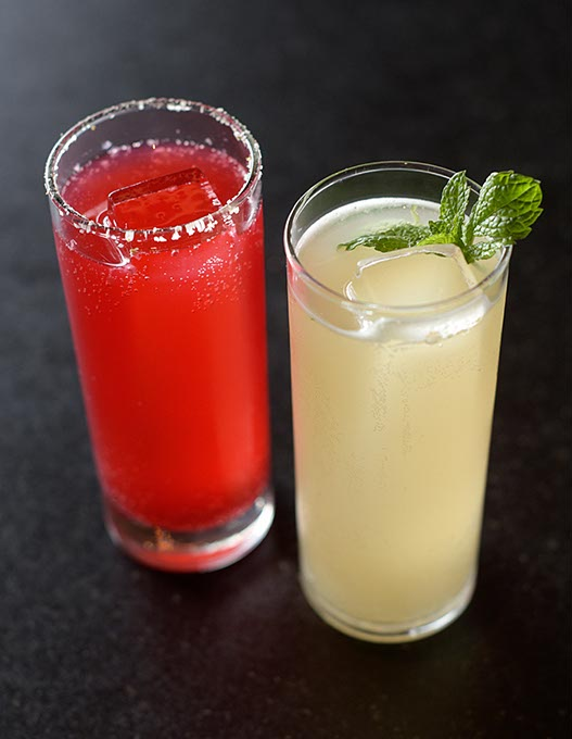 Blackberry Club Special and Ginger Mojito at Cafe 501 (Garett Fisbeck)