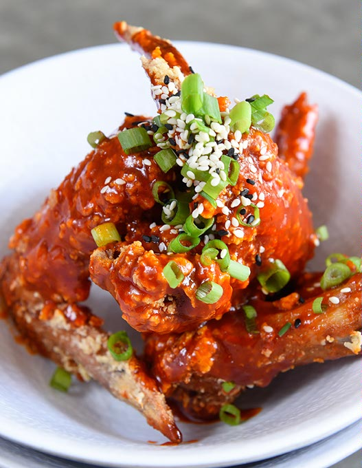 Chicken wings in spicy sauce at Chae Modern Korean (Garett Fisbeck / file)