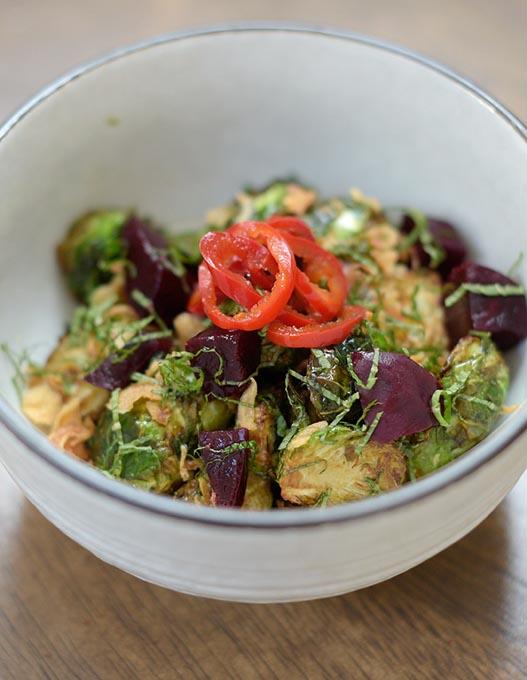 Brussels sprouts salad at Gorō Ramen + Izakaya (Garett Fisbeck)