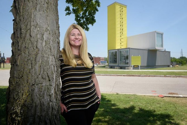 Oklahoma Contemporary Arts Center event manager Jayme Phillips wants to get Oklahoma residents used to visiting its future home at Campbell Art Park. (Garett Fisbeck)