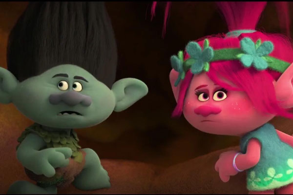 Branch (Justin Timberlake) and Poppy (Anna Kendrick), set off on an adventure to save their friends in <em>Trolls</em>, which screens 1:30 p.m. Saturday. (deadCenter Film Fesitval / provided)